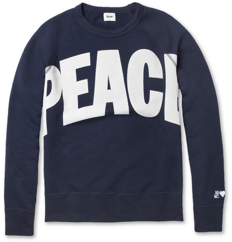 Acne College Peace Loopback-Cotton Sweater