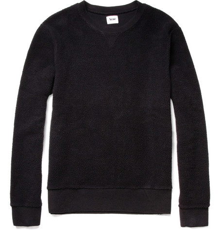 Acne College Reverse Loopback-Cotton Sweater
