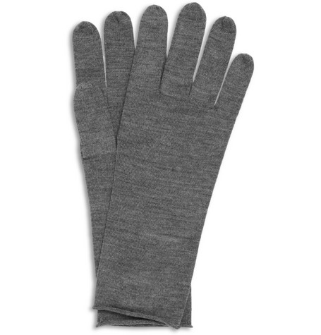 Acne Nils Fine-Knit Wool Gloves