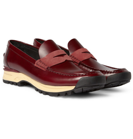 Acne Bernhard Rubber-Soled Leather Penny Loafers