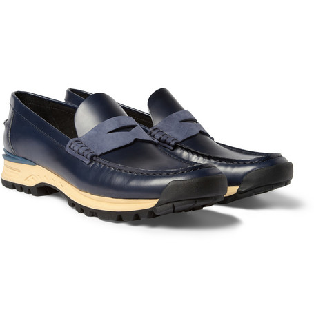 Acne Studios Bernhard Rubber-Soled Leather Penny Loafers