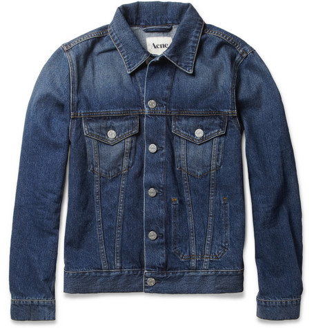 Acne Jam Vintage Slim-Fit Washed-Denim Jacket