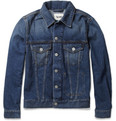 Acne Studios Jam Vintage Slim-Fit Washed-Denim Jacket