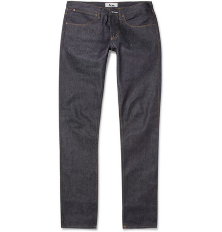 Acne Max New Raw Slim-Fit Dry-Denim Jeans