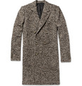 AMI Slim-Fit Wool-Blend Herringbone Overcoat