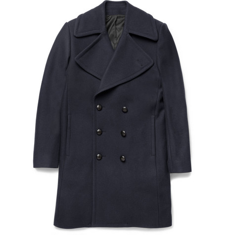 Ami Double-Breasted Wool-Blend Coat