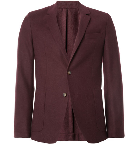 AMI Unstructured Slim-Fit Wool Suit Jacket