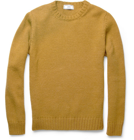 AMI Knitted Crew Neck Sweater