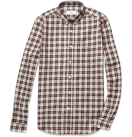 Ami Slim-Fit Check Cotton Shirt
