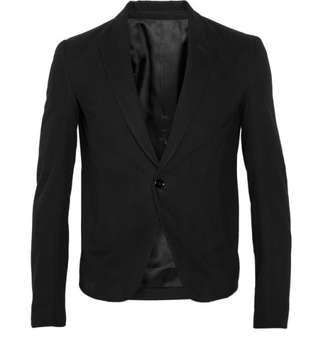 Rick Owens Brushed Cotton-Twill Blazer