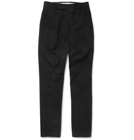 Rick Owens Drop-Crotch Cotton-Twill Trousers