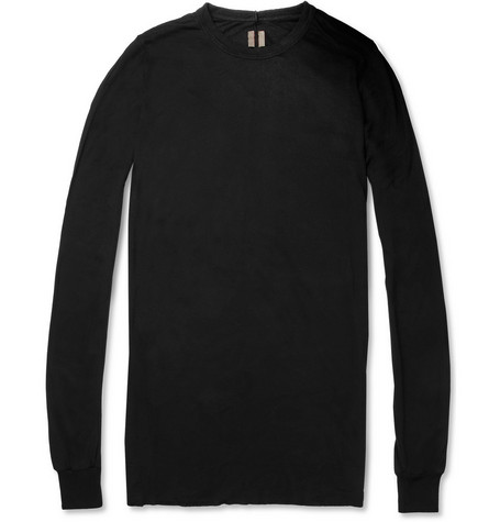 Rick Owens Draped Long-Sleeved T-Shirt