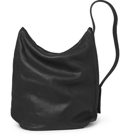 Rick Owens Washed-Leather Messenger Bag