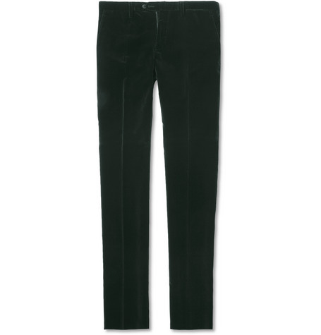 Lanvin Slim-Fit Velvet Trousers