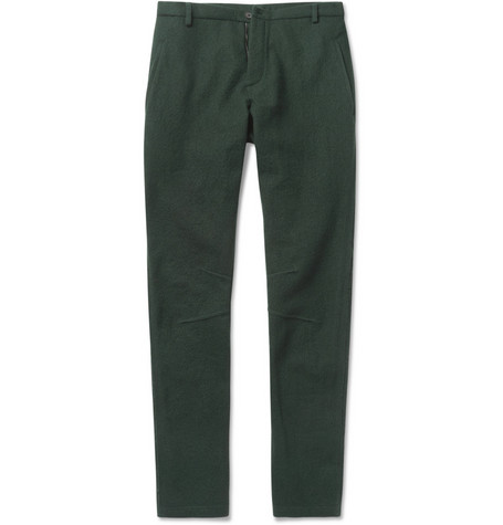 Lanvin Slim-Fit Textured-Wool Trousers