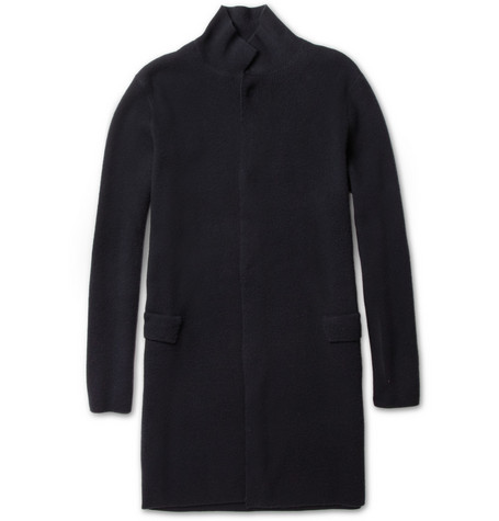 Lanvin Ribbed Wool Cardigan Coat