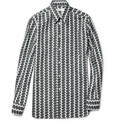 Yves Saint Laurent - Slim-Fit Razor Blade-Print Cotton Shirt