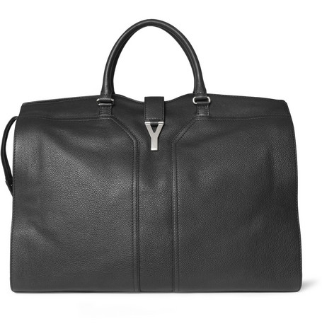 Yves Saint Laurent Full-Grain Leather Holdall Bag