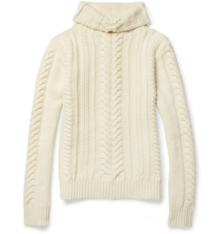 Balmain Cable-Knit Merino Wool Sweater