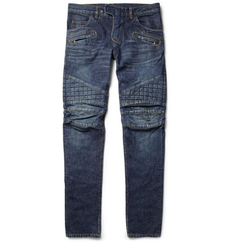Balmain Slim-Fit Washed-Denim Jeans