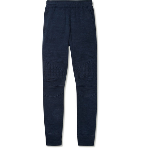 Balmain Biker-Style Slim-Fit Jersey Sweatpants