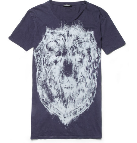 Balmain Lion Crest-Print Cotton-Jersey T-Shirt