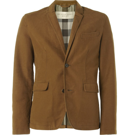 Burberry Brit Unstructured Cotton-Moleskin Blazer