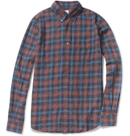 Aspesi Check Cotton-Blend Shirt