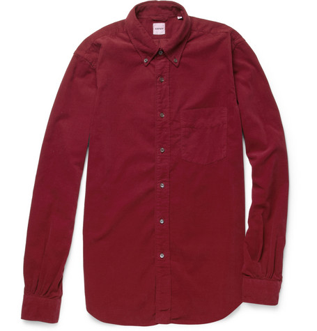 Aspesi Button-Down Collar Fine-Corduroy Shirt