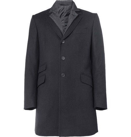 Aspesi Wool Jacket With Detachable Quilted Lining