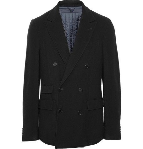 Aspesi Wool and Cashmere-Blend Jacket with Detachable Quilted Lining