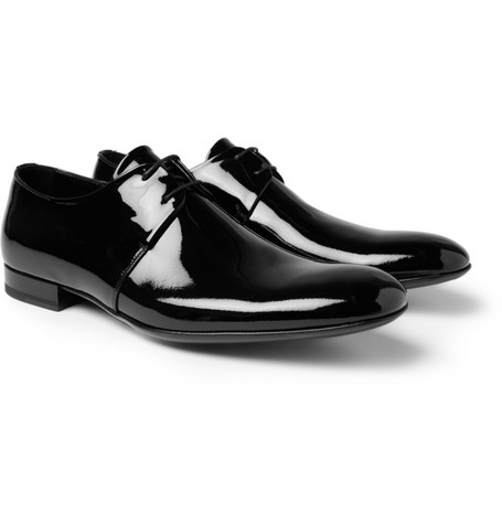 Yves Saint Laurent Patent-Leather Derby Shoes