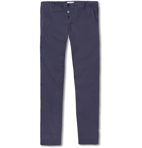 Folk Slim-Fit Brushed-Cotton Trousers