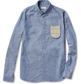 Folk - Knit-Pocket Cotton-Chambray Shirt