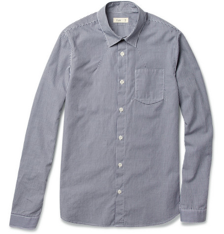 Folk Standard Gingham Check Cotton Shirt