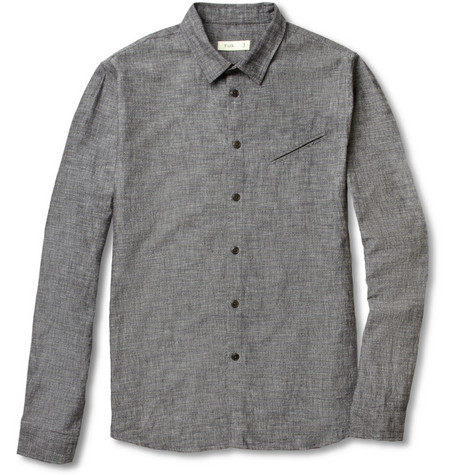 Folk Dotted Cotton-Chambray Shirt