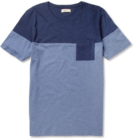 Folk Block-Colour Cotton-Jersey T-Shirt