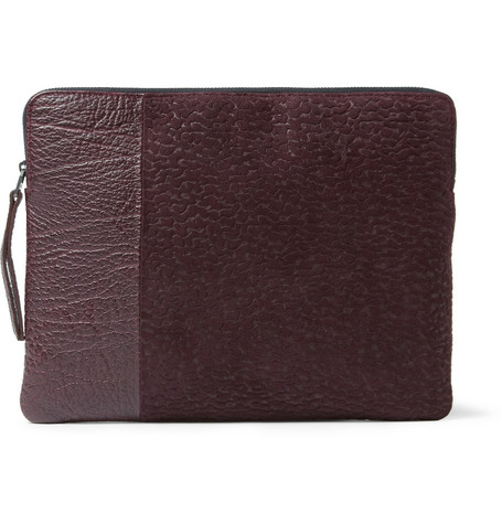 Lanvin Textured-Suede and Leather iPad Case