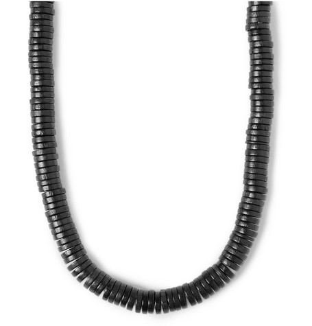 Lanvin Wood and Chain Necklace