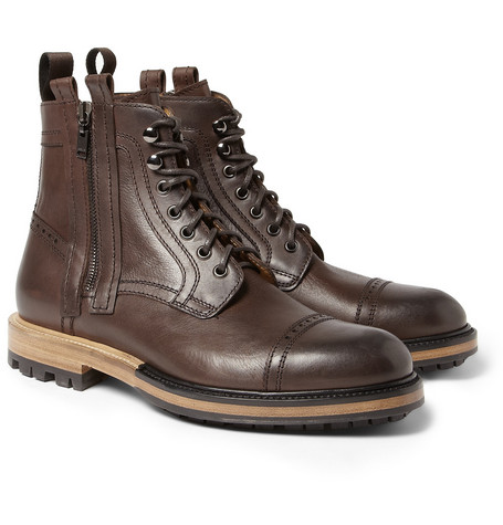 Lanvin Lace-Up Leather Boots