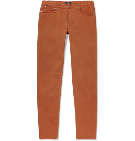 A.P.C. Petit Standard Slim-Fit Cotton-Blend Trousers