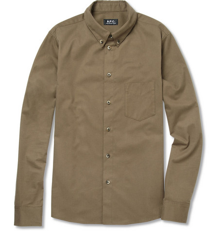 A.P.C. Slim Brushed-Cotton Shirt