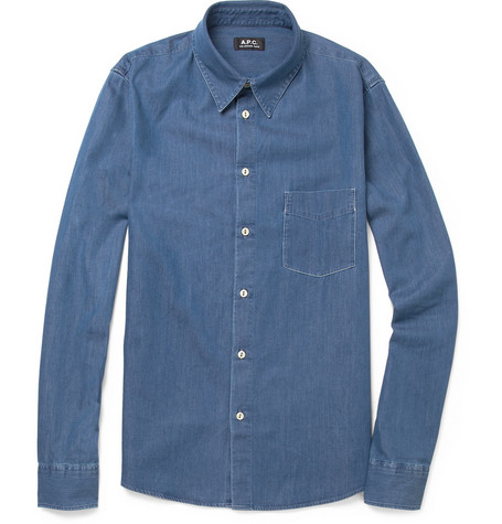 A.P.C. Washed-Denim Shirt