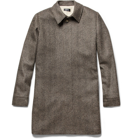 A.P.C. Herringbone Wool Coat