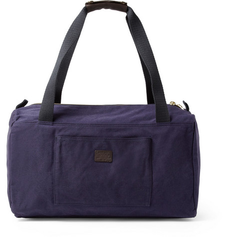 A.P.C. Leather and Cotton-Canvas Holdall