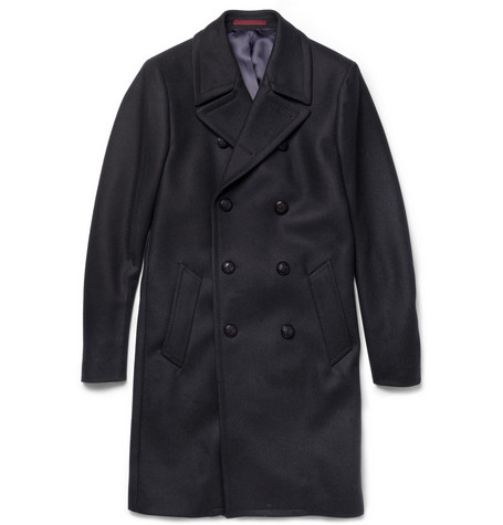 PS by Paul Smith Double-Breasted Wool-Blend Coat