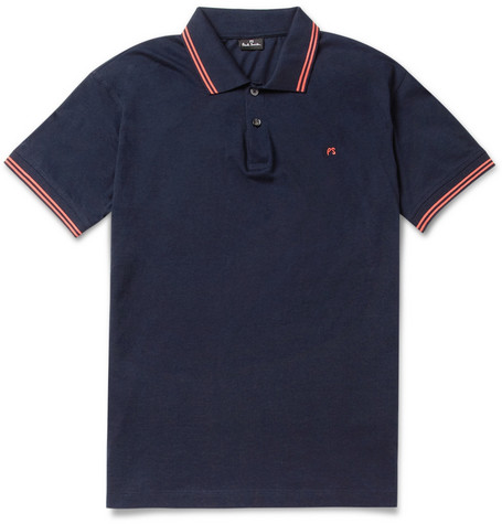 PS by Paul Smith Contrast-Trim Cotton and Modal-Blend Polo Shirt