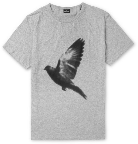 PS by Paul Smith Bird-Print Marl Cotton T-Shirt