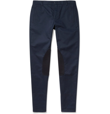 McQ Alexander McQueen Contrast-Panel Slim-Fit Cotton-Twill Trousers