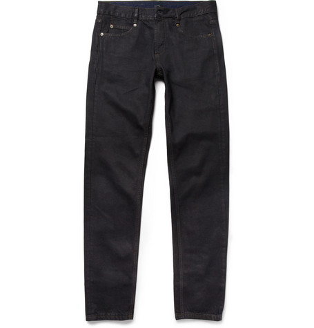 McQ Alexander McQueen Slim-Fit Coated-Denim Jeans